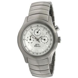 Gino Franco Mens Stainless Steel Chronograph Watch