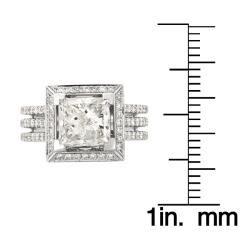14k White Gold 4 1/5ct TDW Princess cut Diamond Engagement Ring (H I