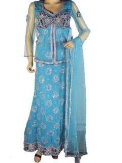 Turquoise Indian Skirt Lehenga Exclusive Lengha Choli