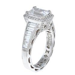 Tacori Platinum 1 1/3ct TDW Diamond and Cubic Zirconia Ring (G, VS1