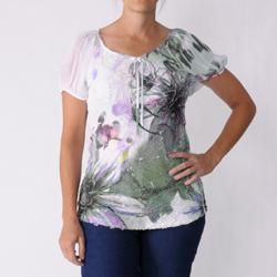 California Bloom Womens Scoop Neck Sublimation Print Top