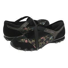Skechers Waterlily Black With Flowers