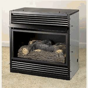 Compact Vent Free Gas Fireplace System, NG DUAL BURNER FIREPLACE