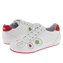 Moschino Kids Footwear Art.23830 (Youth) Bianco/Bianco/Rosso
