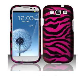 Premium Samsung Galaxy S3 Hot Pink Zebra Protector Case