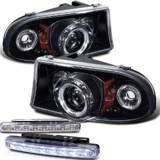 98 04 Dodge Dakota Halo Projector Head Light + LED Bumper