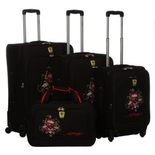 Ed Hardy France Love Kills Slowly 4 piece Luggage Set