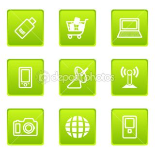 Icons set in cartoon style  Stock Photo © DMITRI LITVINENKO #5209907