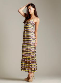 Romeo & Juliet Couture Multi Stripe Tank Maxi Dress