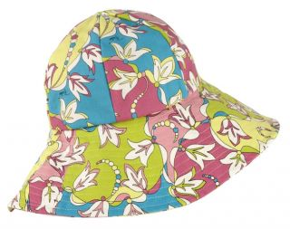 Emilio Pucci Fabric Colored Beach Hat