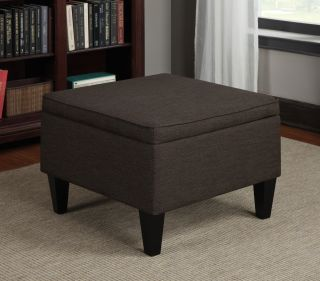 Portfolio Engle Chocolate Brown Linen Table Storage Ottoman Today $