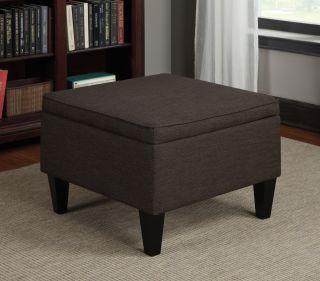 Portfolio Engle Chocolate Brown Linen Table Storage Ottoman Today $