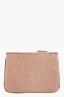 Givenchy Brown Leather Lizard Print Pouch for women