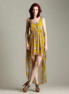 Romeo & Juliet Couture Chiffon Print Hi Lo Maxi Dress