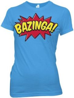 Big Bang Theory Bazinga Comic Book Type Juniors Tee (X