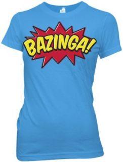 Big Bang Theory Bazinga Comic Book Type Juniors Tee (X
