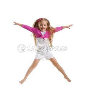 Cute little girl jump  Stock Photo © Tetiana Vychegzhanina #1127425