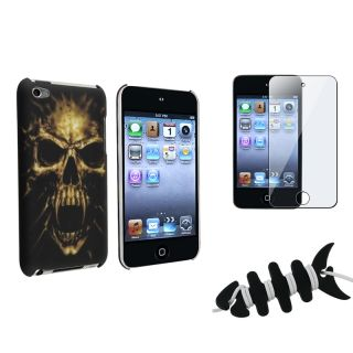 Black Skull Case/ Protector/ Wrap for Apple iPod Touch Generation 4