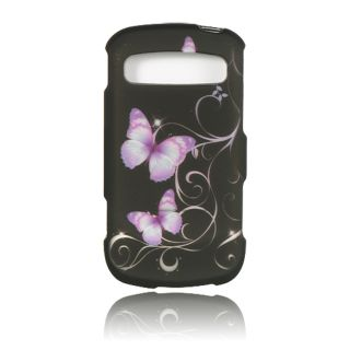 Luxmo Purple Butterfly Rubber Coated Case for Samsung Admire/ R720