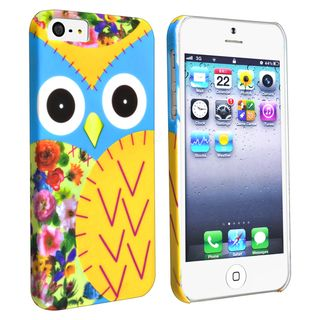 BasAcc Colorful Owl Rear Snap on Case for Apple iPhone 5