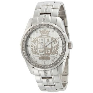 Marc Ecko Mens Stainless Steel White Coat of Arms Dial Watch