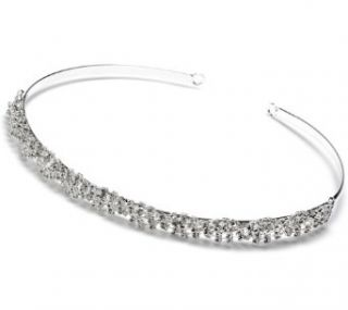 Wedding Tiara Bridal Headband Rhinestone Silver 203 Clothing