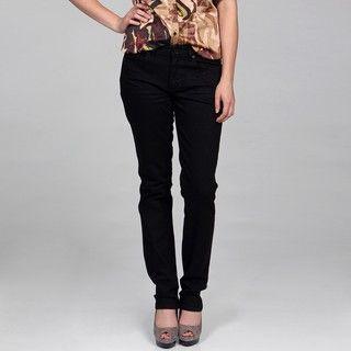 Calvin Klein Womens Black Pencil Leg Jeans