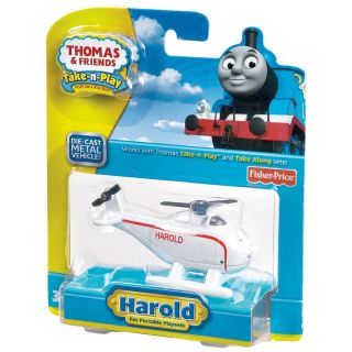 Fisher Price Thomas and Friends Take N Play Harold Toy Train Engine