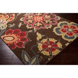 Meticulously Woven Contemporary Brown Floral Flitwick Rug (53X76