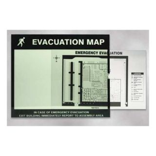Accuform Signs DTA204 Map Holder, Fits 11 x 17 In Map