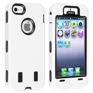 BasAcc Black Hard/ White Skin Hybrid Case for Apple® iPhone 5
