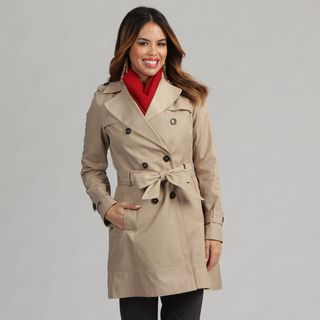 Tommy Hilfiger Womens Double Breasted Trench Coat