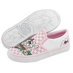Skechers Kids Diamonds   Misfits (Toddler/Youth) Pink/White