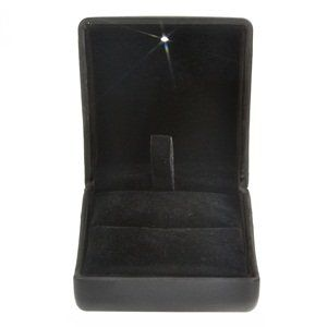 Cosmos ® Black PU Leather with LED Jewelry Gift Box Case