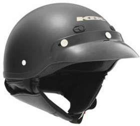 KBC TK 410 FLAT BLACK 2XL MOTORCYCLE Open Face Helmet