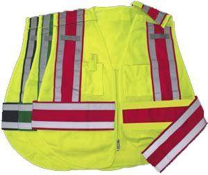 Public Work Safety Vest, ANSI/ISEA 207 2006, Color Red