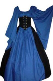Pearsons Costuming Dagget Sleeve Cincher Set Misty Blue