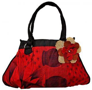 Red Kanga Umbrella Bag (Kenya)