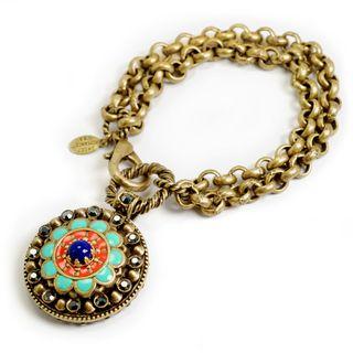 Sweet Romance Old Southwest Enamel Bracelet