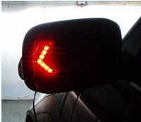Red LED Side Mirror Arrow Turn Signals, Blinkers, Indicators