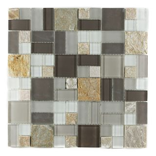 ICL P 2150 Glass Marble Mix Mosaic Tiles (Case of 11)