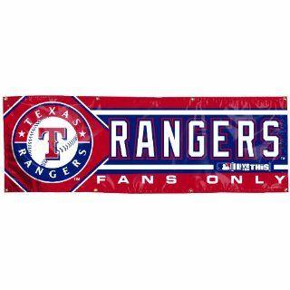MLB Texas Rangers 2 by 6 foot Vinyl Banner Sports
