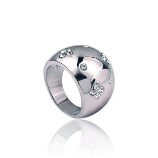 Silvertone Rhodium plated Crystal Cocktail Ring