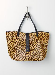 Luciana Verde Med Tote In Haircalf W.Tab