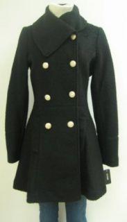 Guess Envelope Collar Wool Coat, Jacket, Black, Medium