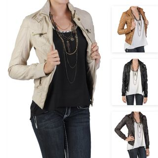 Journee Collecion Juniors Zippered Faux Leaher Jacke