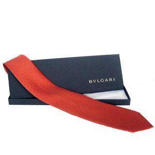 Bvlgari Quadretti 7 fold Silk Necktie
