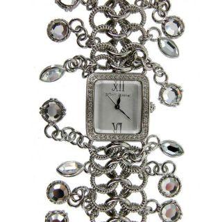 Betsey Johnson Womens Silver Bracelet Watch