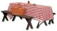 Red Gingham 40 in x 300 inch Roll Plastic Table Cover