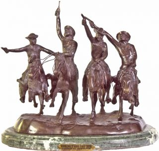 Remington Coming Thru the Rie Bronze Statue